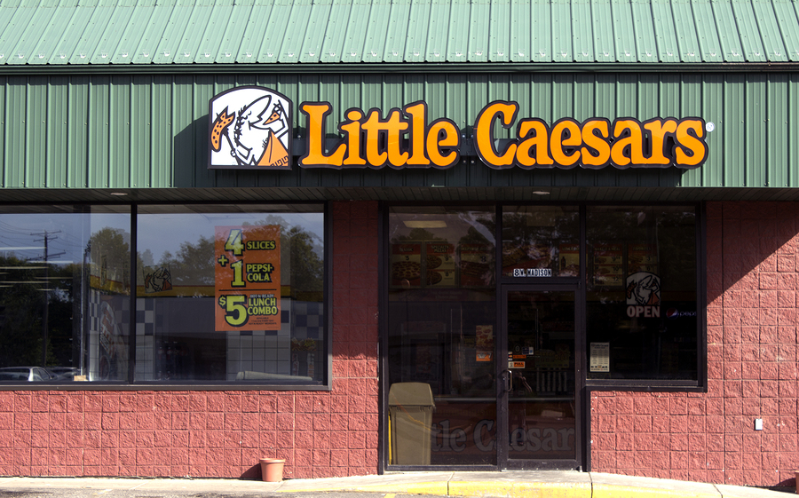 Little Caesars Storefront-burger king