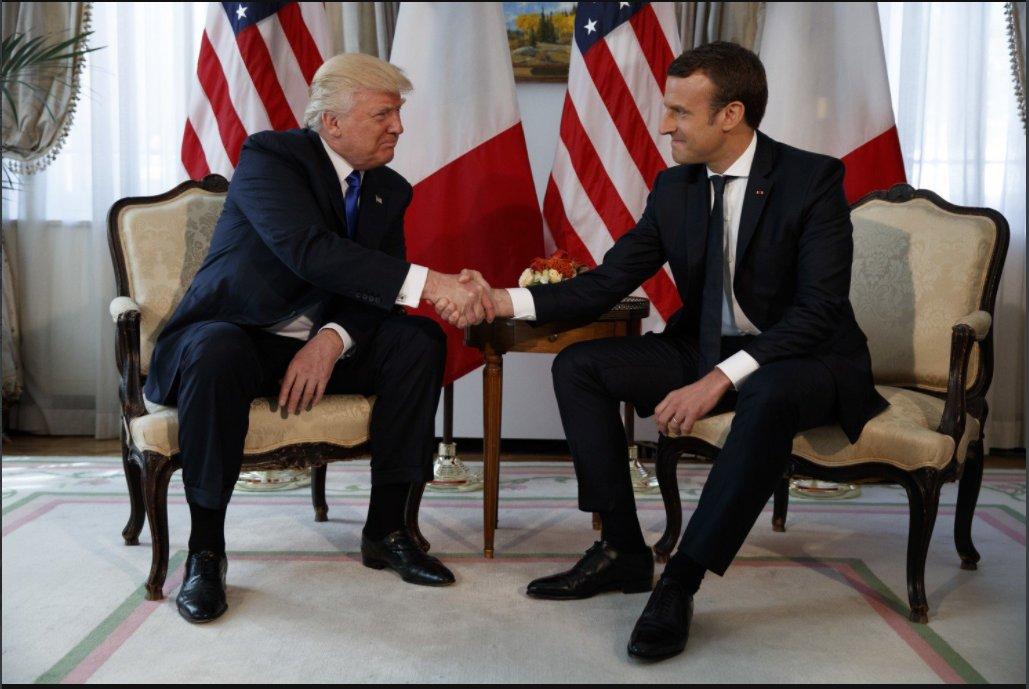 Donald Trump y Emmanuel Macron, en tiempos de amistad.