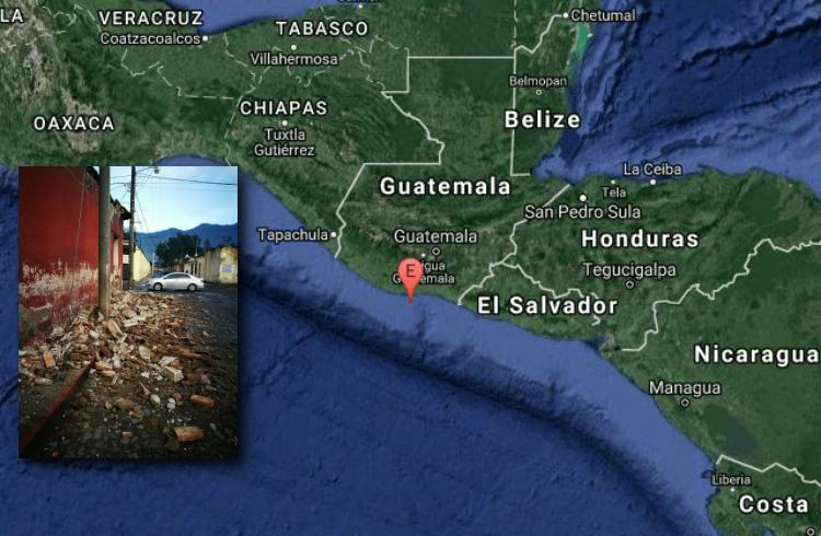 Se registra sismo de 6.5 grados en Ciudad Hidalgo