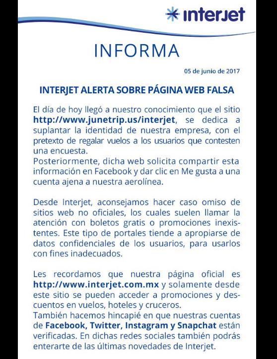 Aeroméxico alerta sobre correos falsos para ganar viajes