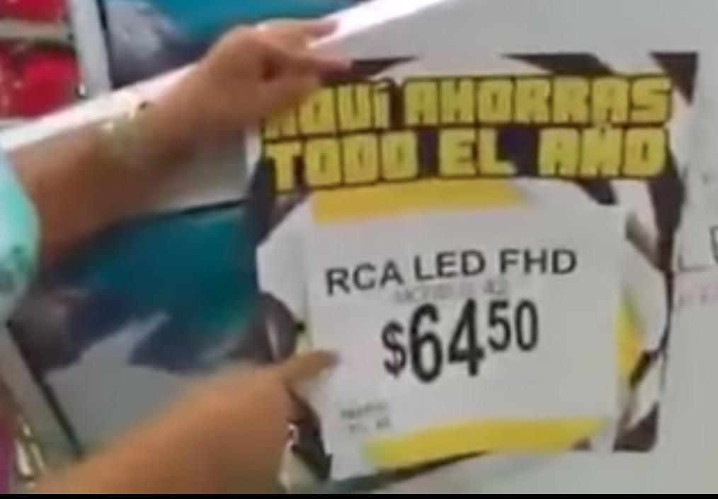 [Video] Bodega Aurrera se equivoca y vende pantallas en ¡64.50 pesos!
