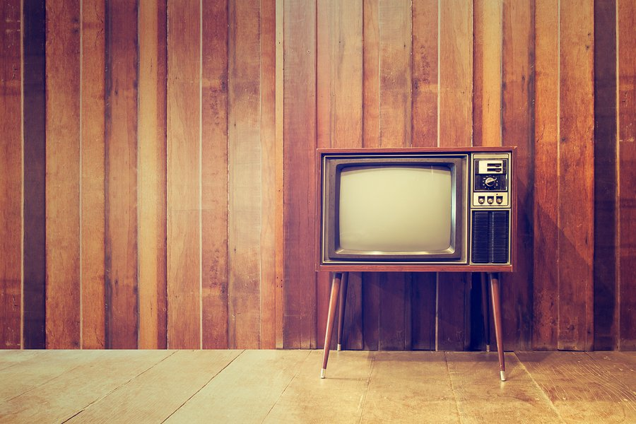 Old vintage television-TV-televition