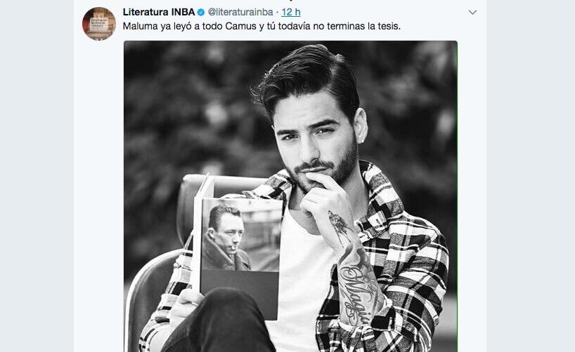 El curioso tuit de Maluma y Albert Camus que todos comentan