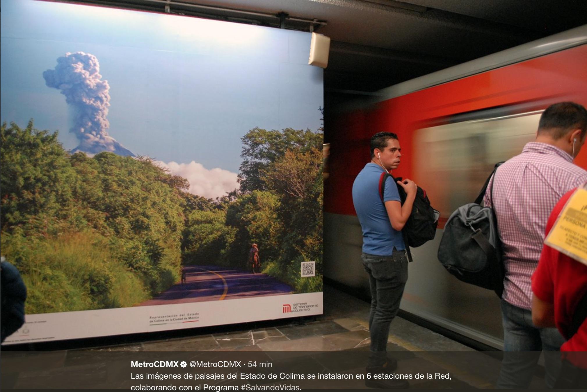 Metro busca reducir suicidios con muestra fotográfica