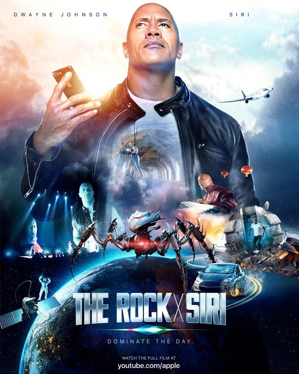 'The Rock' y Siri son coprotagonistas en la nueva 'película' de Apple