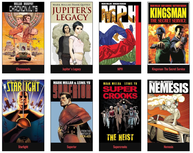 ¡Bam! Netflix compra a la editorial de cómics Millarworld