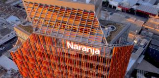 Edificio corporativo de Tarjeta Naranja en Argentina.