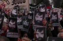 Marcha por la aparición de Maldonado. Captura de TV.