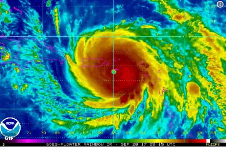 Decretan toque de queda en Puerto Rico tras paso de huracán María