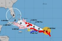 Trayectoria del huracán Irma. Imagen: NOOA