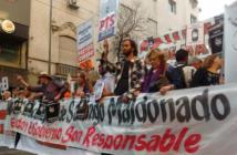 La marcha del 1 de septiembre en la ciudad de Córdoba fue pacífica.
