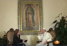 Captura de pantalla entrevista de 2015 en El Vaticano.