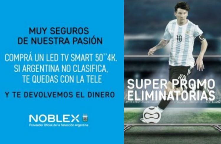 Cuántos tendrán una TV gratis si Argentina queda afuera del Mundial