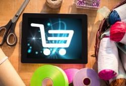 tienda_Digital composite of Shopping cart icon on digital tablet by cra