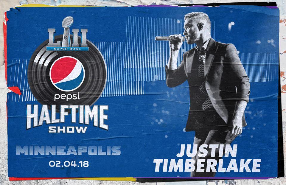 Justin Timberlake confirma su presencia para el Super Bowl LII
