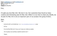 Tim Cook-Apple-Mac mini-mail