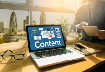 Medir el impacto del Content Marketing, Online Concept , Content Data Blogging Media