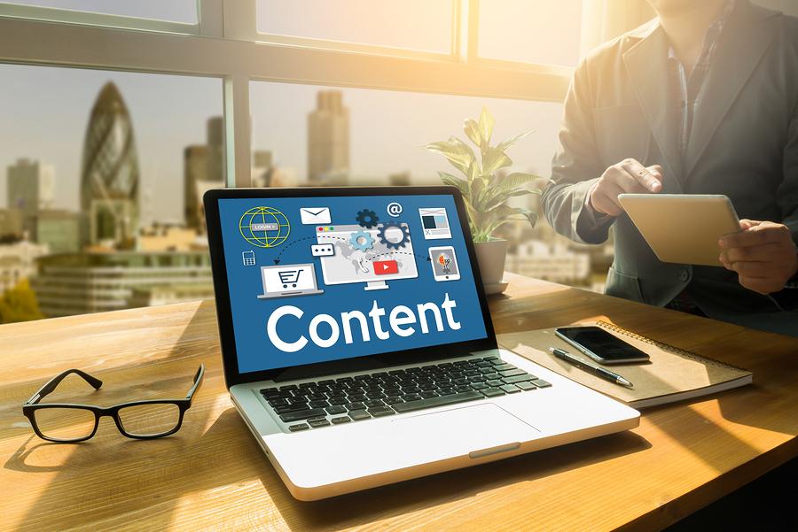 Medir el impacto del Content Marketing, Online Concept , Content Data Blogging Media