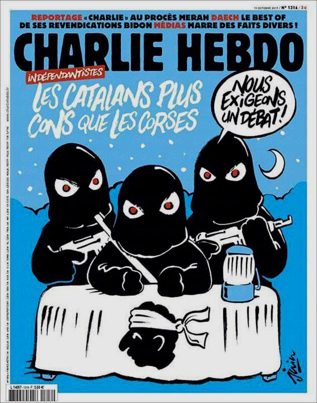 Charlie Hebdo: 'Los catalanes, más tontos que los corsos'