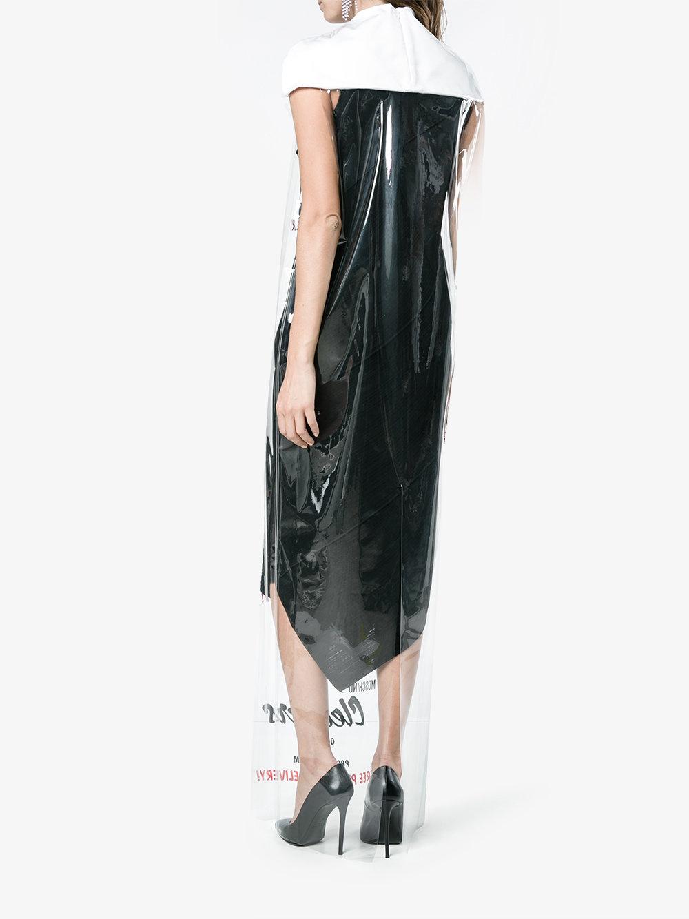 Moschino-vestido-bolsa de plastico-Brown-03