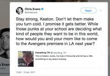 Chris Evans-Keaton Jones-bullying
