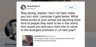 Chris Evans-Keaton Jones-bullying