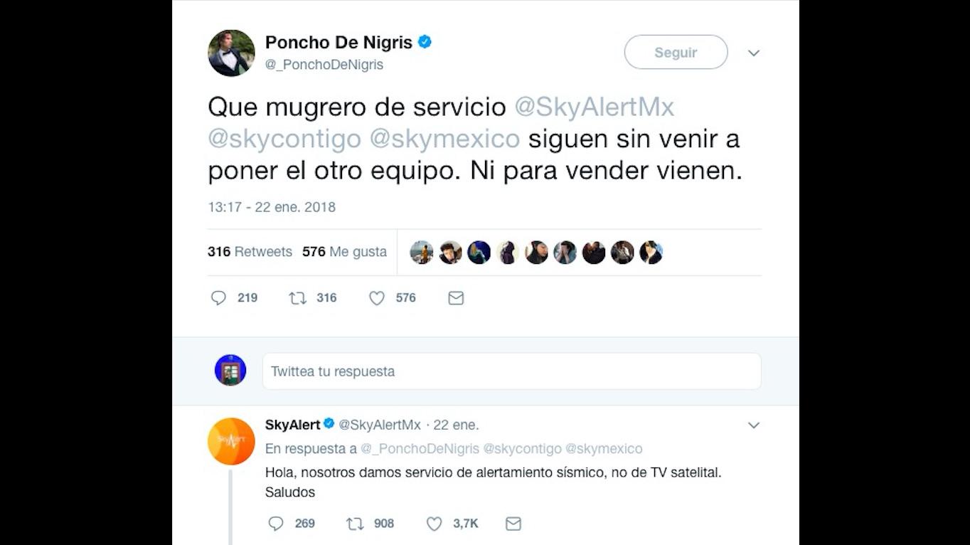 La equivocación de Poncho de Nigris que desató las burlas en Twitter