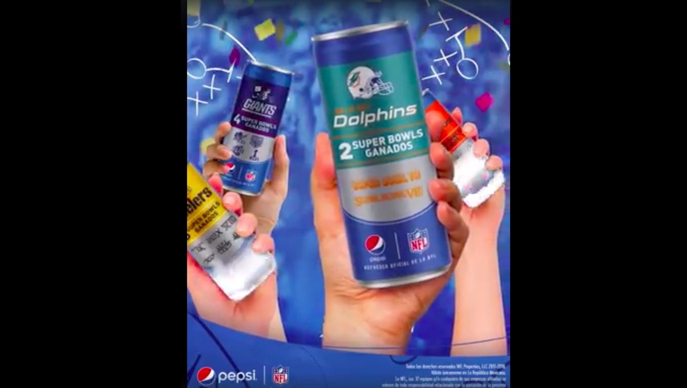 Pepsi lanza latas de edición especial NFL