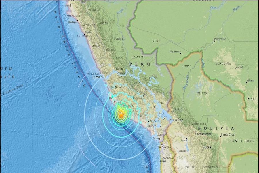 Un fuerte terremoto de magnitud 7,1 grados sacudió el sur de Perú