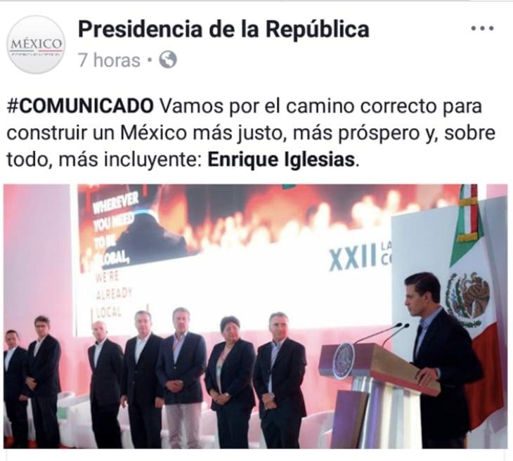 Burlas: Pifia de CM pone a Enrique Iglesias como presidente de México