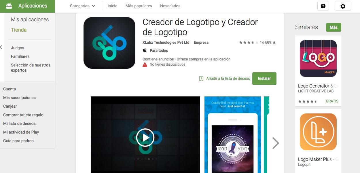 Sitio del d a una app para android para dise ar logos - App para disenar ...
