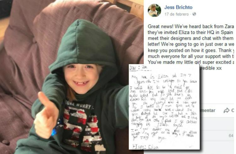 Zara responde a la niña de siete años que pidió ser modelo