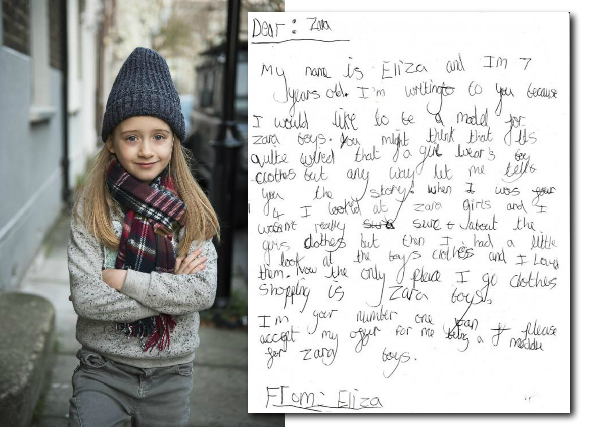 El polémico caso de la niña que quiso modelar para Zara Boys