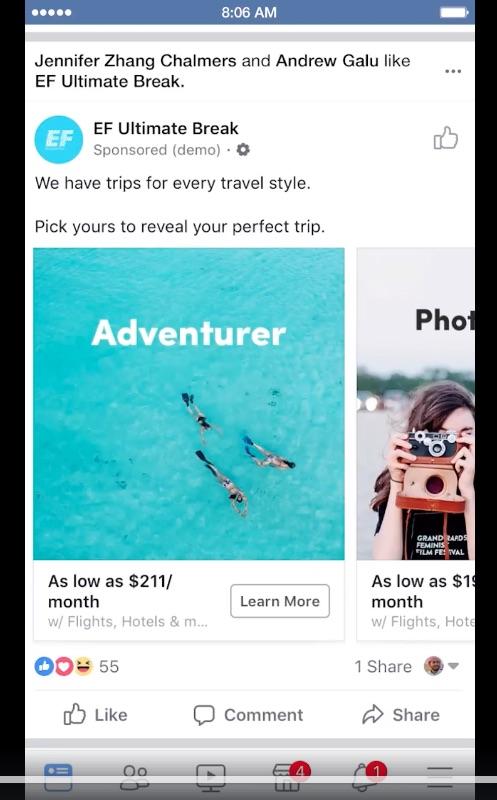 Facebook-Trip Consideration-Publicidad viajes