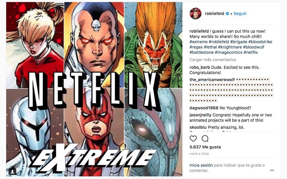 Rob Liefeld-Extreme Universe-Netflix-comic