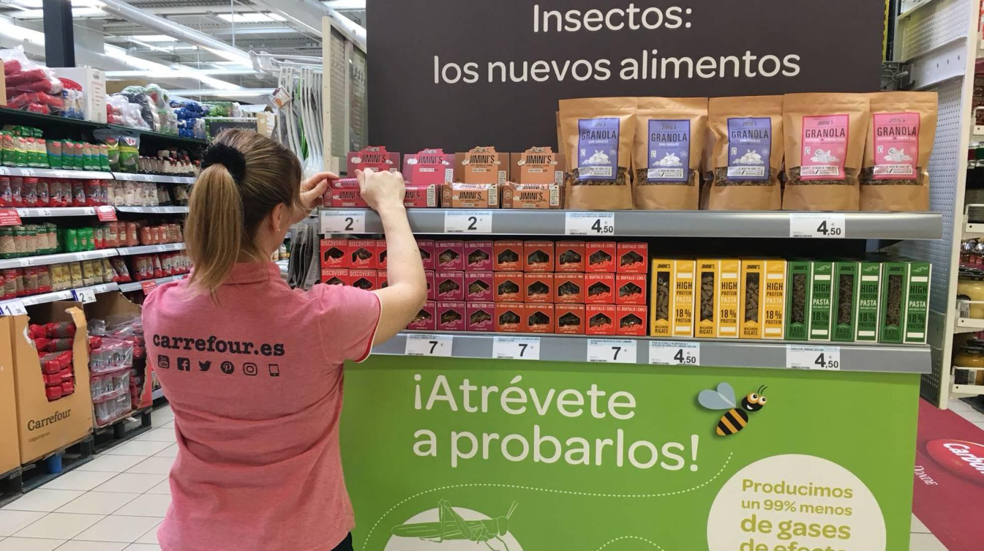 Carrefour se convierte en un supermercado pionero al vender insectos ...