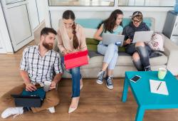 young people-sharing collaborative office-marketing-bigstock