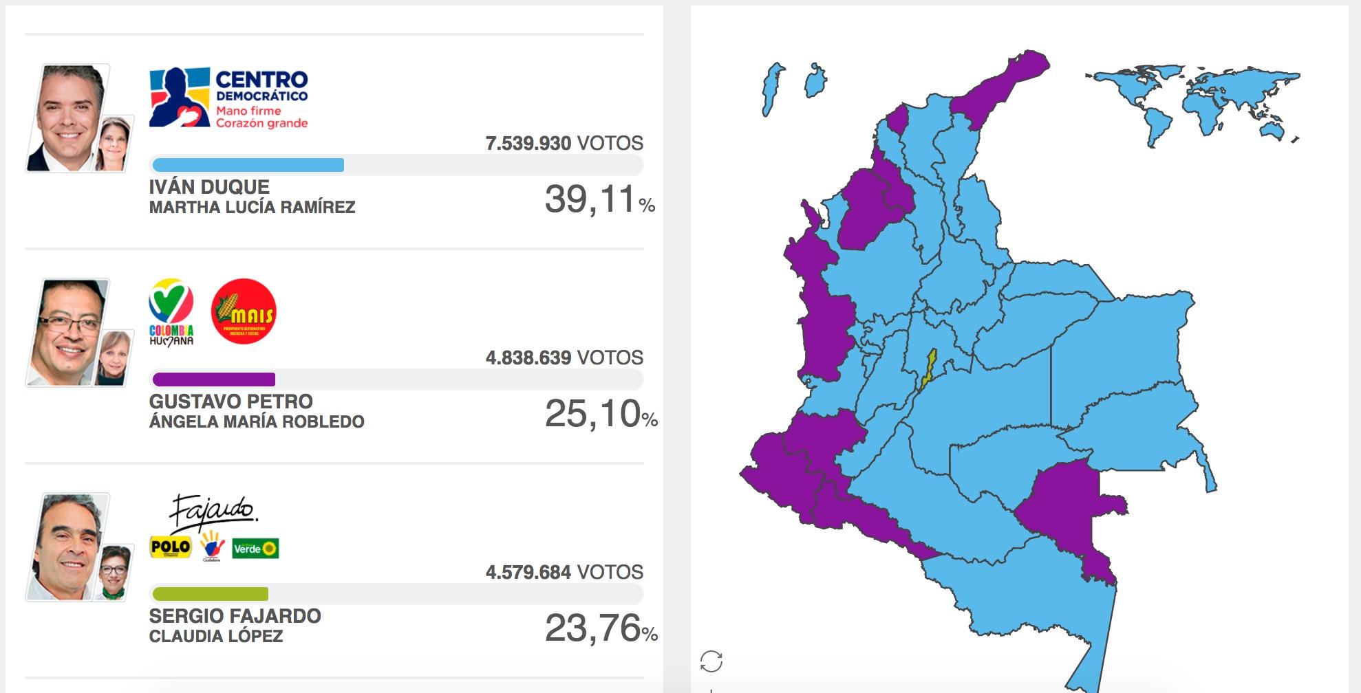 Las elecciones colombianas avanzan con normalidad y buena participación