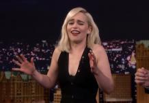 Emilia Clarke-Wookiee-Chewbacca-Tonight Show-Jimmy Fallon