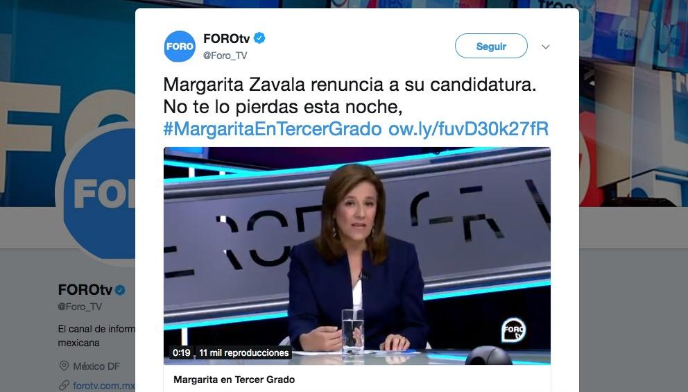 Margarita Zavala-Televisa-Tercer Grado