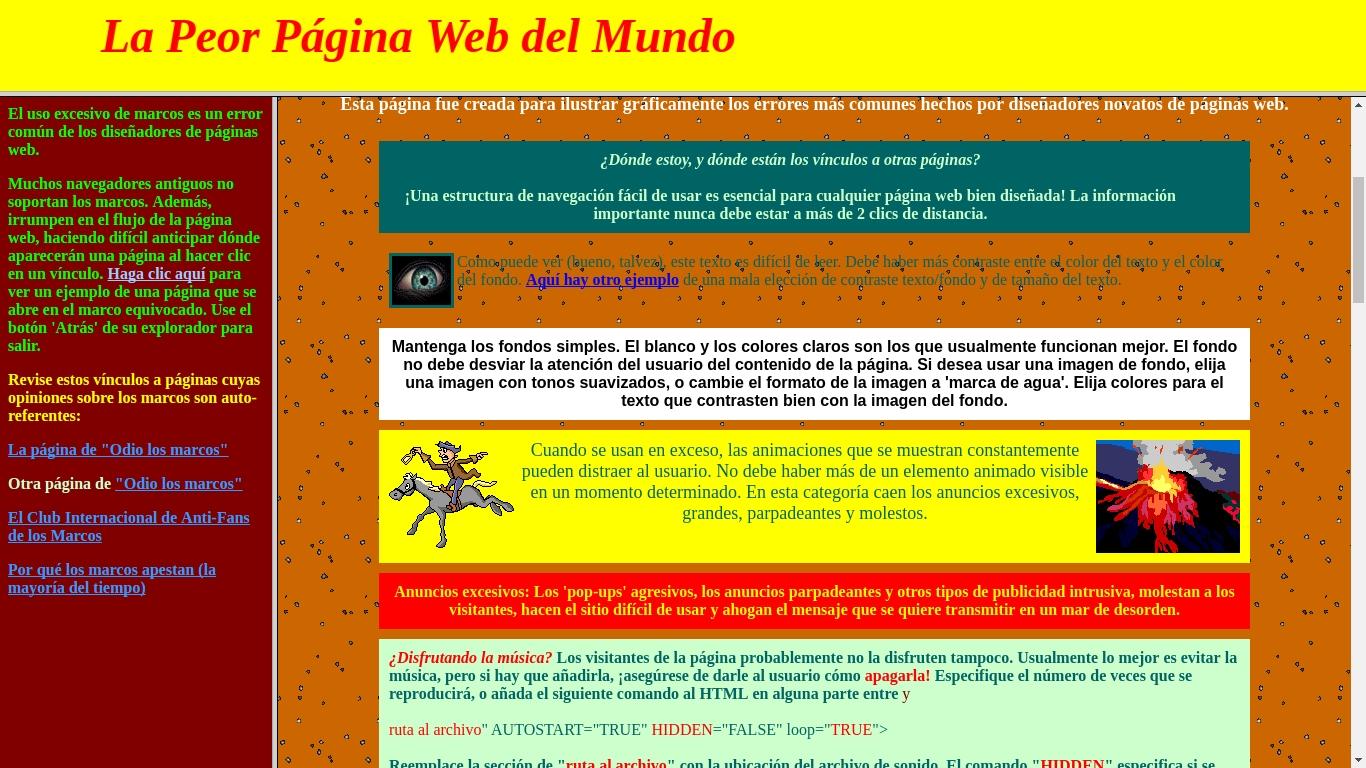 Este es el peor sitio web y como mercadólogo estás obligado a visitarlo