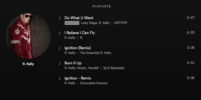 Spotify-R Kelly