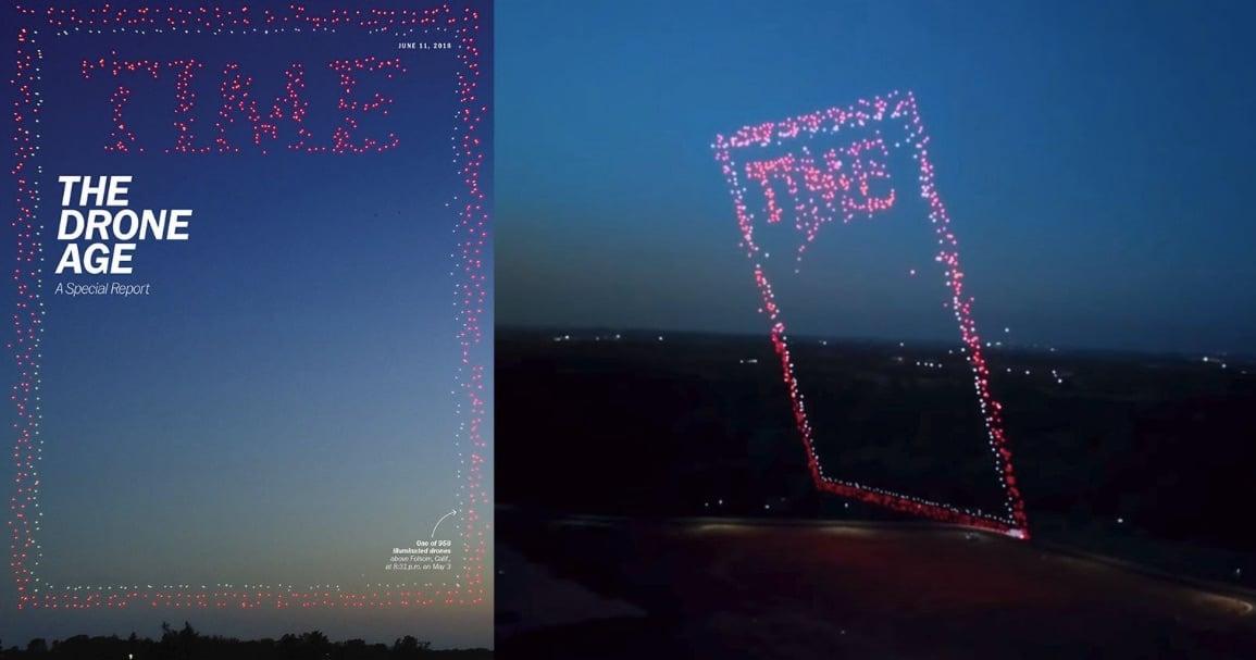 La nueva portada de Time está hecha de 958 drones