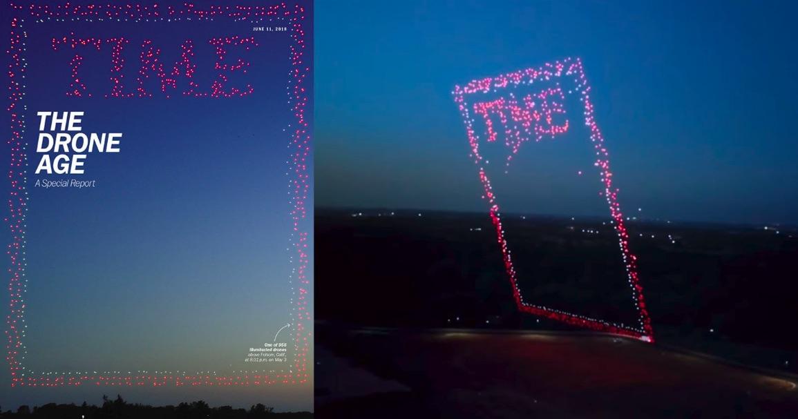 Time causa furor con su portada literalmente hecha con drones