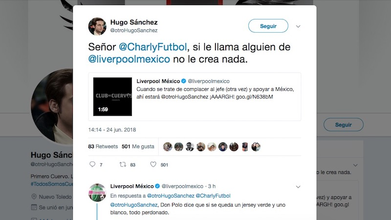 Hugo Sánchez se infiltra en Liverpool para vender jerseys de los Cuervos