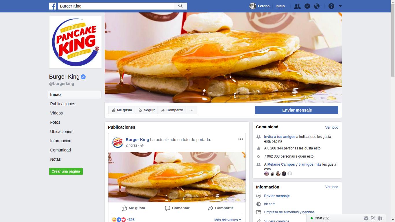 Burger King se cambia a Pancake King