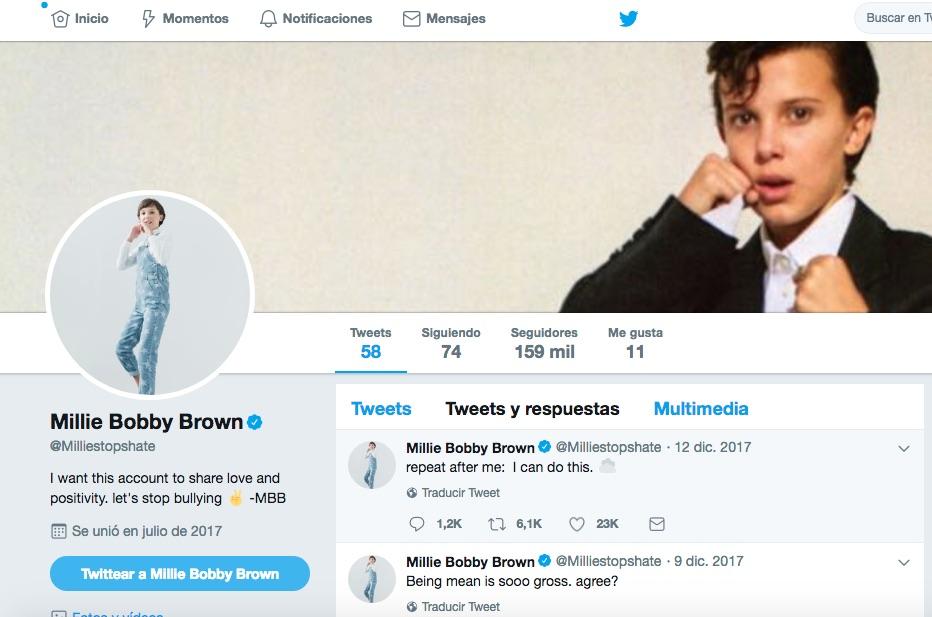 Millie Bobby Brown abandona Twitter tras convertirse en un meme homofóbico