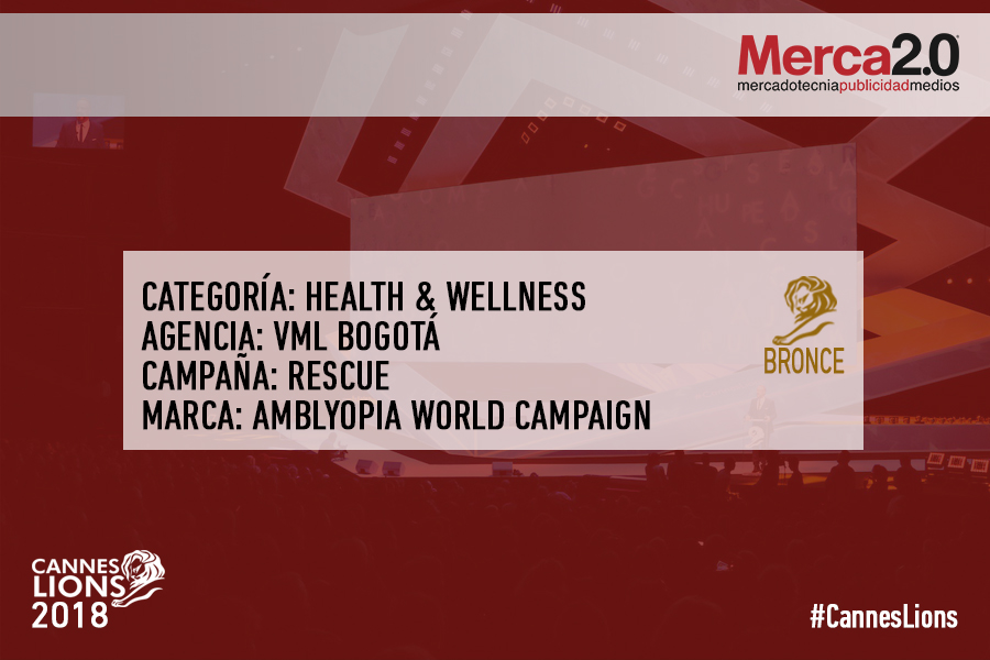cannes- premiacion Bronce Health VML colombia
