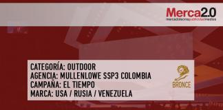 premiacion OUTDOOR colombia BRONCE