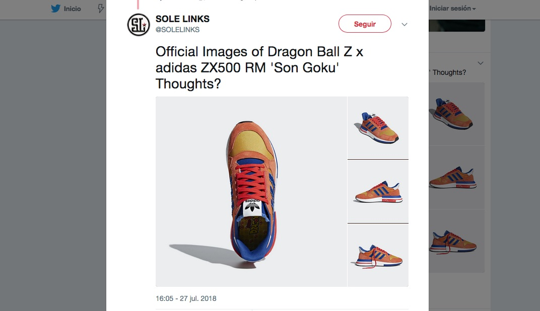 Adidas-Goku-Dragon Ball Z